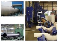 Continuous Type Roller Conveyor Shot Blasting Machine , Auto Shot Blasting Machine