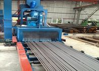 Auto Pass Through Blast Cleaning Machine Steel Bars Derusting High Efficiency