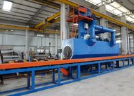 China Accurate Steel Pipe Shot Blasting Machine PLC Controls High Speed 4m / Min factory