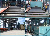Pass Through Type Steel Shot Machine , Rust Removal Roller Conveyor Shot Blasting Machine