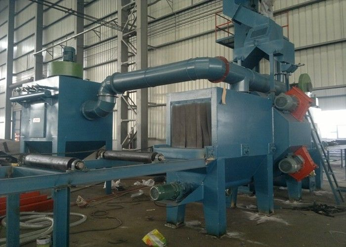 Rust Removing Automatic Shot Blasting Machine With Roller Conveyor ISO9001