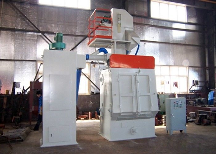 Smart Size Automatic Shot Blasting Machine With Rubber Belt Easy Operation