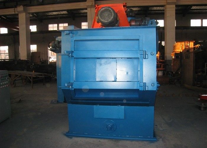 Q326 Tumble Belt Shot Blasting Machine Metal Parts Cleaning 100kg / Min