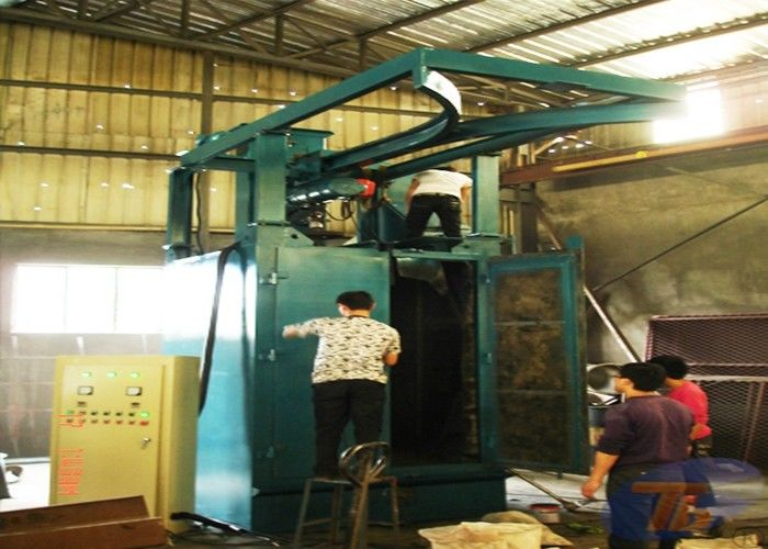 Q376 Spinner Hanger Shot Blasting Machines , Hydraulic Truck Hook Type Shot Blasting Machine