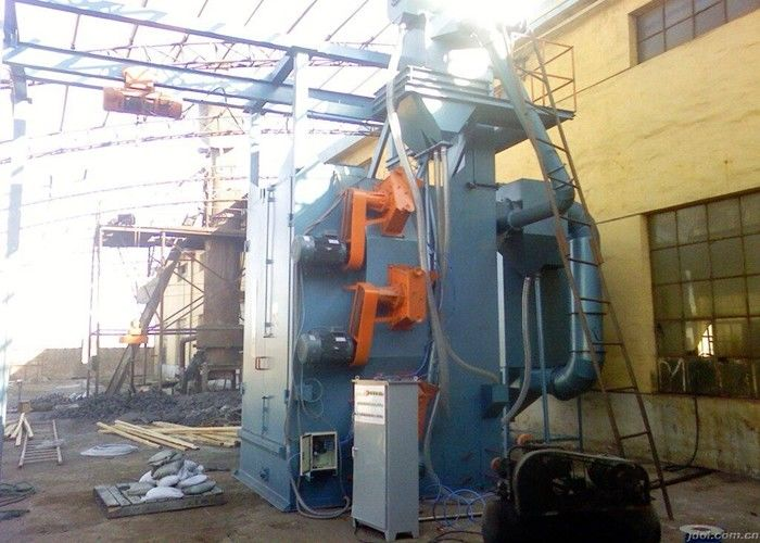 Hanging Hooks Hanger Type Shot Blasting Machine For Gas Cylinder Compact Design