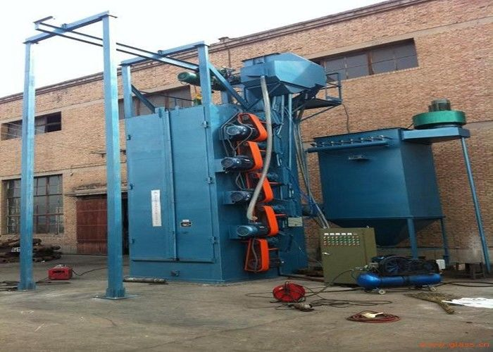 Aluminum Parts Blast Cleaning Equipment , Airless Spinner Hanger Shot Blasting Machines