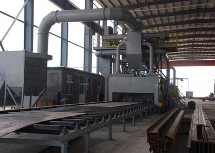 Abrasive Anti - Rust Roller Conveyor Shot Blasting Machine Custom Colors