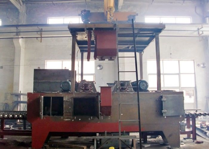 Automatic Roller Conveyor Shot Blasting Machine For Wire Rod Rust Removing