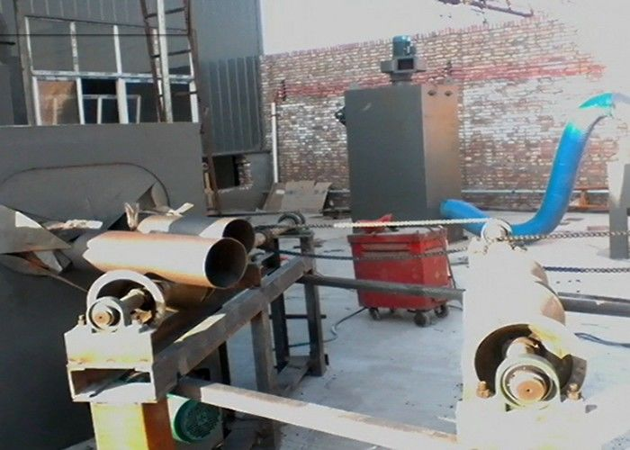 Pass Through Type Steel Pipe Shot Blasting Machine For H Section Steel / Structure