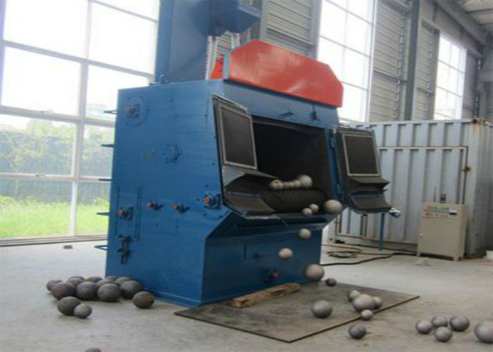 Rubber Tracked Tumble Belt Shot Blasting Machine , Steel Shot Machine Surface Cleaning