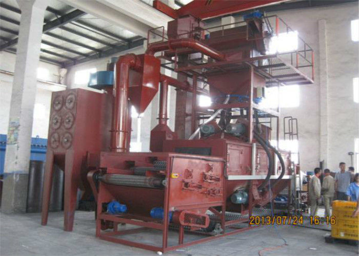 Roller Conveyor Wire Mesh Belt Shot Blasting Machine For Thin - Walled Iron Casting