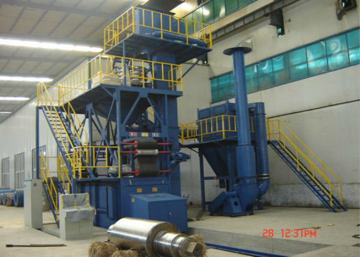 Abrasive Recycle System Wire Mesh Belt Shot Blasting Machine Customized Color
