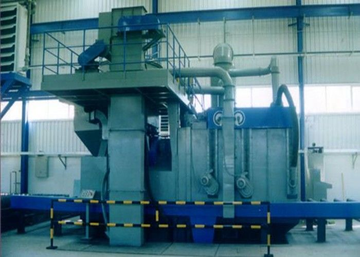 Sectional Steel Plate Shot Blasting Machine High Efficiency 4m / Min Roller Speed