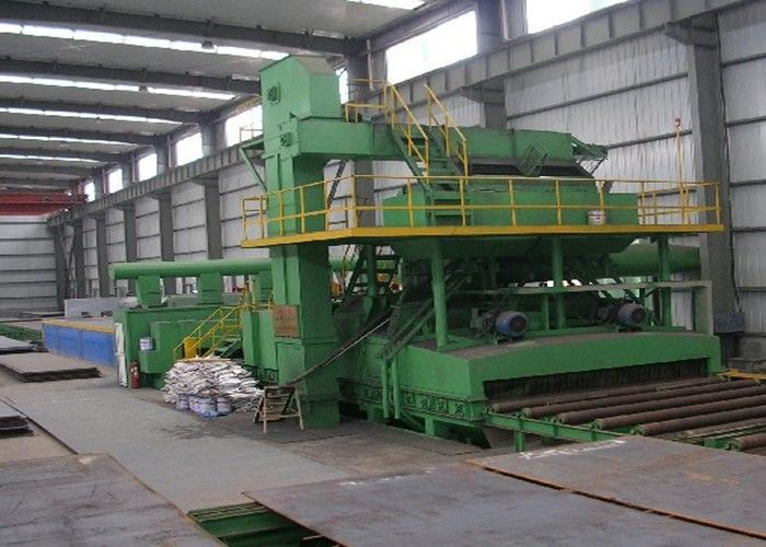 Painting Line Steel Plate Shot Blasting Machine Pretreatment Line Dust Removing