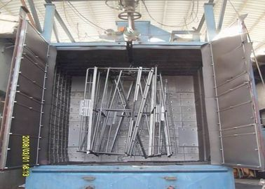 China Double Hanger Automatic Shot Blasting Machine For Bicycle Frame Cleaning factory