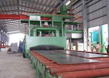 China Steel Structure Roller Conveyor Shot Blasting Machine Rust Removing ISO9001 distributor