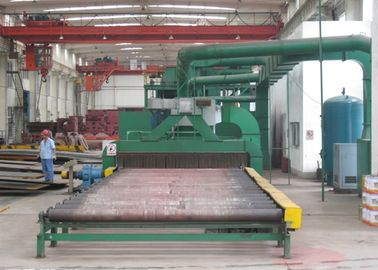 China Steel Plate Shot Blasting Machine , Steel Plate Cleaning Machine Rust Removal distributor