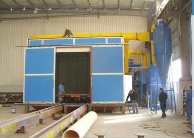 China Metal Derusting Media Blasting Booth , Steel Structure Shot Blasting Booth distributor